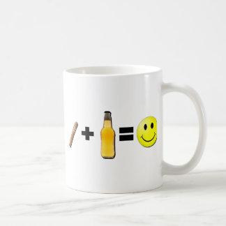 Cigar + Beer = Happiness Coffee Mug