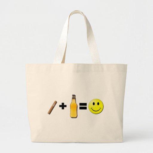 Cigar + Beer = Happiness Jumbo Tote Bag