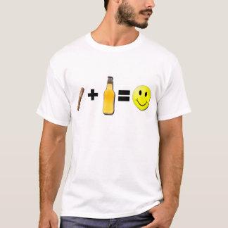 Cigar + Beer = Happiness T-Shirt