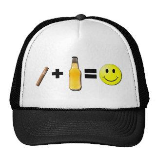 Cigar + Beer = Happiness Trucker Hat