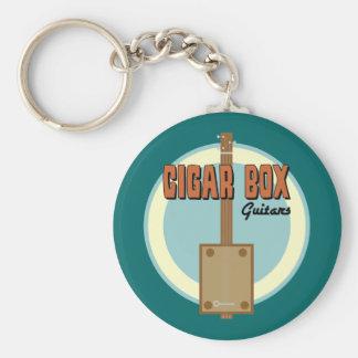 Cigar Box Guitar Basic Round Button Keychain