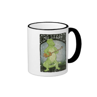 Cigar Box Guitar Lizard Ringer Coffee Mug