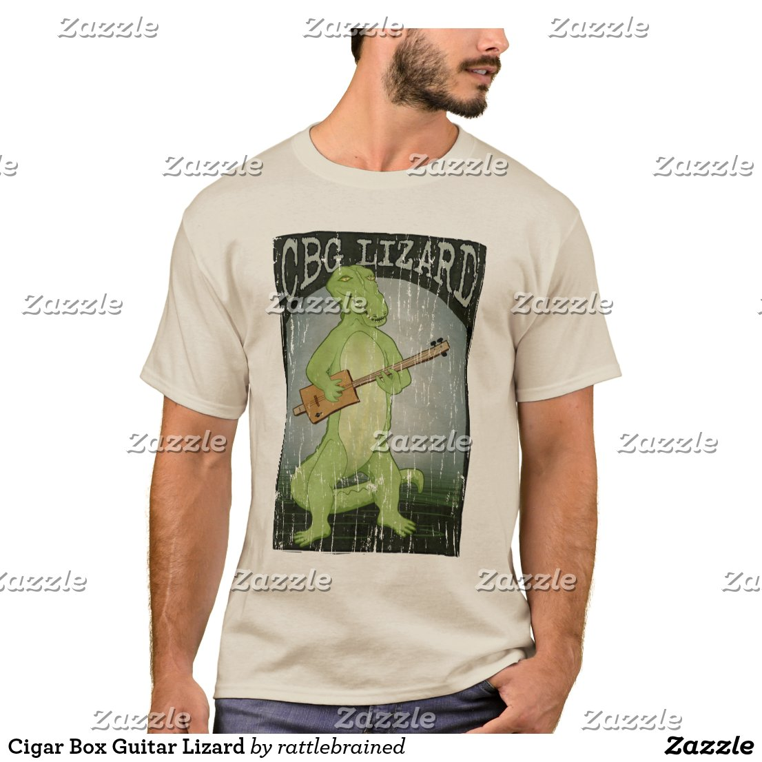 Create your own designs amp sell your design online shirts zazzle - Cigar Box Guitar Lizard