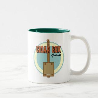Cigar Box Guitar Two-Tone Coffee Mug