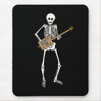Cigar Box Guitar Skeleton Mouse Pad