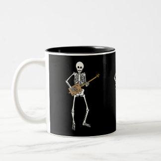 Cigar Box Guitar Skeleton Two-Tone Coffee Mug