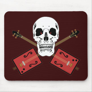 Cigar Box Guitar Skull Mouse Pad