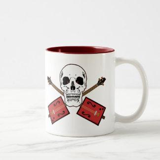 Cigar Box Guitar Skull Two-Tone Coffee Mug