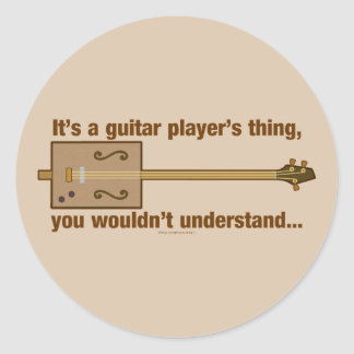 Cigar Box Guitar Thing Classic Round Sticker