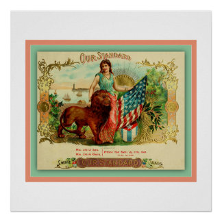 Cigar Box Label From Vintage Print - Our Standard