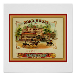 Cigar Box Label From Vintage Print - Road House