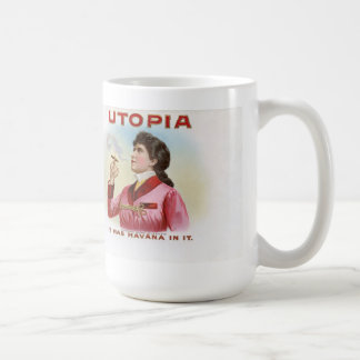 Cigar box label Utopia Coffee Mug