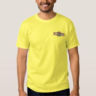 Cigar Design Embroidered T-Shirt