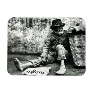 Cigar-end Seller, c,1865 (b/w photo) Vinyl Magnets