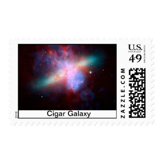 Cigar Galaxy Stamp, NASA