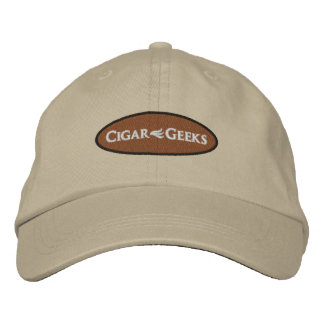 Cigar Geeks Embroidered Cap with Oval Logo