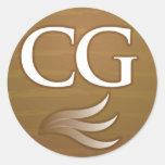 Cigar Geeks Round Sticker