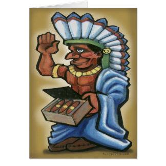 Cigar Indian Card