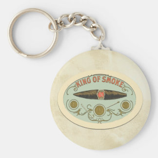 Cigar Lovers King of Smoke Tobacco Label Keychain