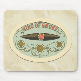 Cigar Lovers King of Smoke Tobacco Label Mouse Pad