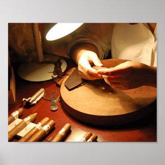 Cigar Making (Digital Dry Brush) Poster