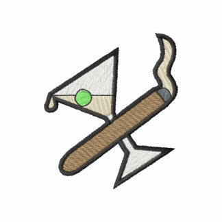 Cigar/martini Logo