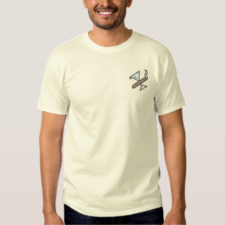 Cigar/martini Logo Embroidered T-Shirt
