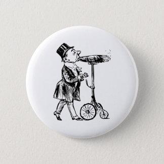 Cigar on wheels cigar on wheels pinback button