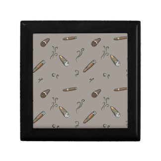 Cigar Pattern Keepsake Box
