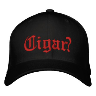Cigar? Red stitching on front Embroidered Baseball Cap