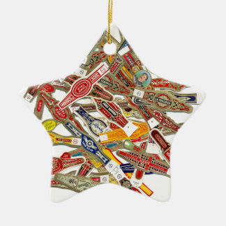 Cigar Ring Wrappers Ceramic Ornament