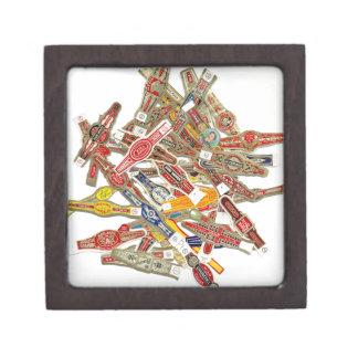 Cigar Ring Wrappers Keepsake Box