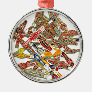 Cigar Ring Wrappers Metal Ornament