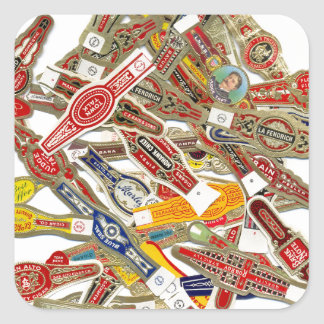 Cigar Ring Wrappers Square Sticker