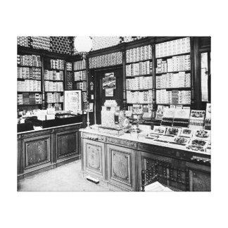 Cigar Shop, 1895 Canvas Print