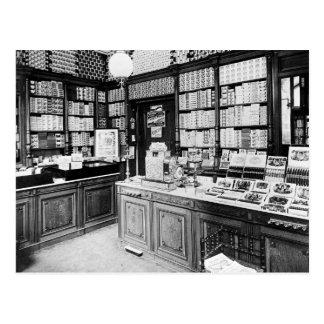 Cigar Shop, 1895 Postcard