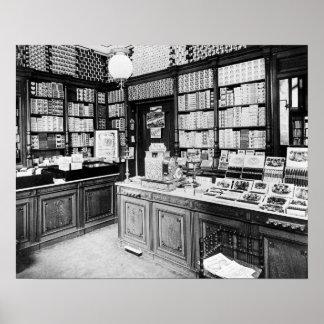 Cigar Shop, 1895 Print