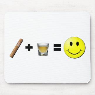 Cigar + Shots = Happiness Mouse Pad