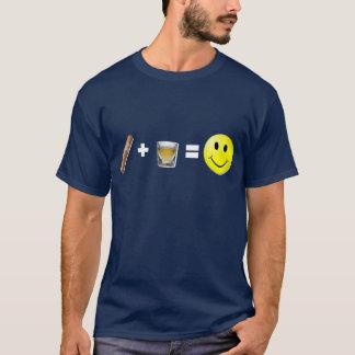 Cigar + Shots = Happiness T-Shirt