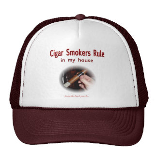 Cigar Smoker Trucker Hat