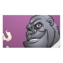 gorilla, cigar, smoking, business, man, al rio, thomas mason, art, illustration, drawing, Business Card with custom graphic design
