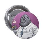 Cigar Smoking Business Man Boss Gorilla by Al Rio Button