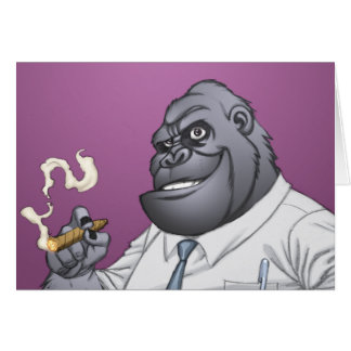 Cigar Smoking Business Man Boss Gorilla by Al Rio Card