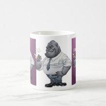 gorilla, cigar, smoking, business, man, al rio, thomas mason, art, illustration, drawing, Mug with custom graphic design