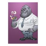 Cigar Smoking Business Man Boss Gorilla by Al Rio Custom Invitation