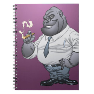Cigar Smoking Business Man Boss Gorilla by Al Rio Notebook