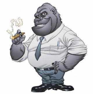 Cigar Smoking Business Man Boss Gorilla by Al Rio Standing Photo Sculpture