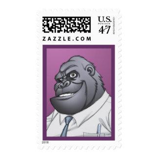 Cigar Smoking Business Man Boss Gorilla by Al Rio Postage