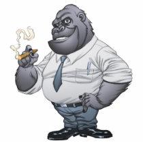 gorilla, cigar, smoking, business, man, al rio, thomas mason, art, illustration, drawing, Photo Sculpture with custom graphic design