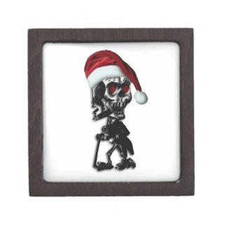 Cigar Smoking Christmas Skeleton Keepsake Box